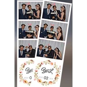 customised photo strips for a wedding