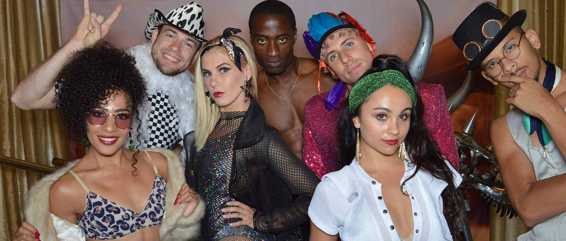 group of dancers at the photobooth