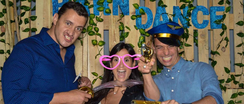 people having fun at the photo booth