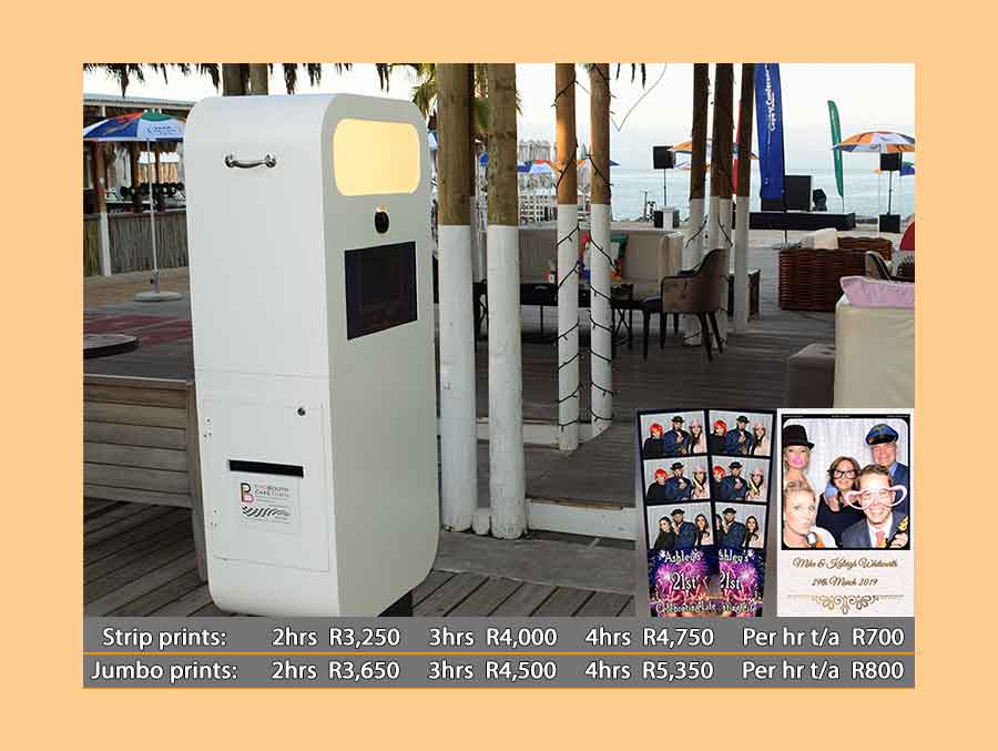 The Tower Photo Booth with Standard prices