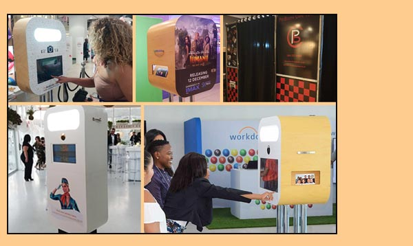 A variety of Photobooths from ProBooth Cape Town